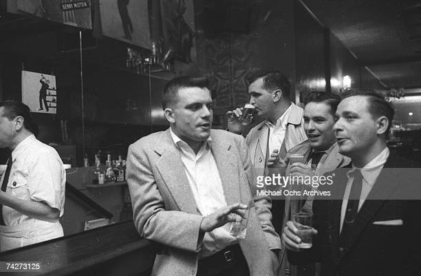 Unidentified customers in a Jazz nightclub circa 1955 in New York City New York