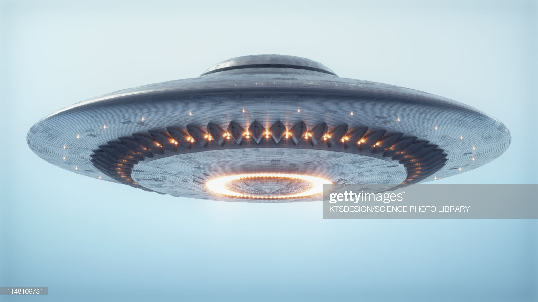 Unidentified flying object, illustration : Stock Photo