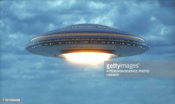 unidentified flying object, illustration - ufo stock pictures, royalty-free photos & images