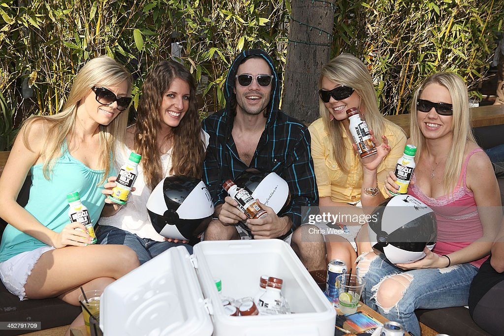 Unidentified guests attend Muscle Milk's Springbreakitdown.com pool party at The Roosevelt Hotel on March 13, 2010 in Hollywood, California.