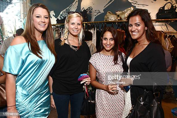 Unidentified guests attend the Foley Corinna Melrose Avenue Event With Poshglamcom at Foley Corinna on June 9 2010 in Los Angeles California
