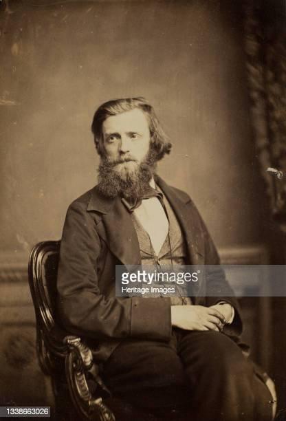 Unidentified Man, circa 1858. A work made of albumen print. Artist Unknown.