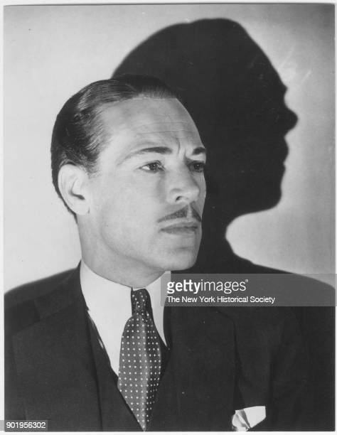 Unidentified man with moustache and polkadot tie 1929