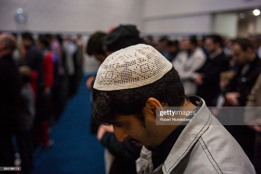 Muslim Americans At Friday Prayer Service In Bloomfield Hills, Michigan : News Photo