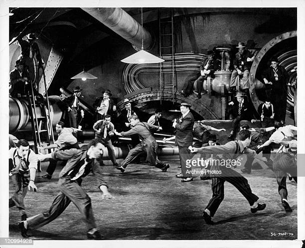 Unidentified performers dance in a scene from the film 'Guys And Dolls' 1955