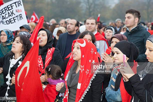 CONTENT] Unidentified Turkish men and women protesting against the Kurdistan Workers Party on October 30 2011 in The Hague The Netherlands