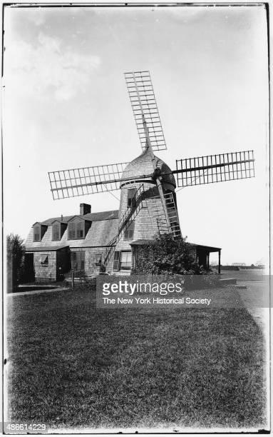 Unidentified windmill Southampton Long Island New York 1895