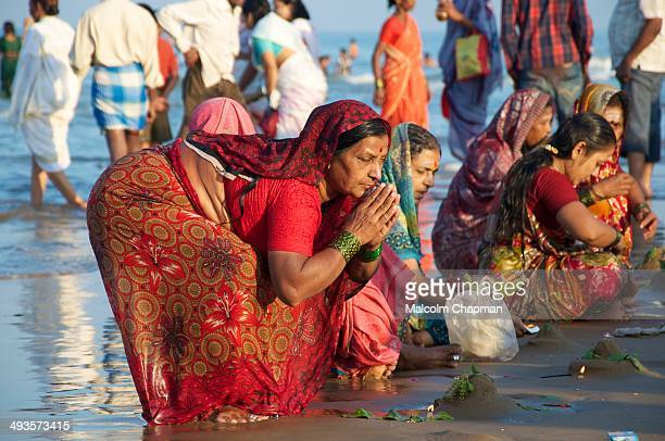 Unidentified women pray and celebrate Maha Shivaratri, a major Hindu festival on February 20, 2012 in Gokarna, Karnataka state, India. Gokarna is a...