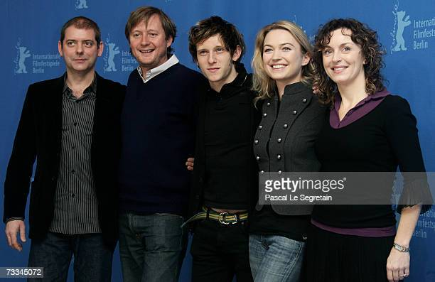 Uniderntified guest director David Mackenzie actors Jamie Bell Sophia Myles and producer Gillian Berrie attend a photocall to promote the movie...