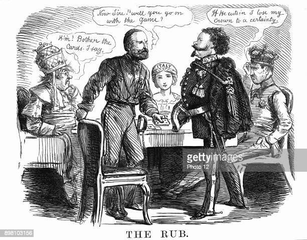 Unification of Italy Garibaldi asking Victor Emmanuel II if he will carry on the 'game' for Italy while on left Pope Pius IX realises he has a weak...