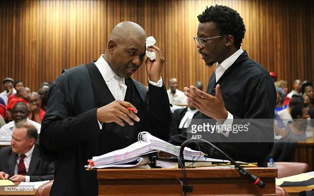 Unified Democratic Movement and Congress of the People's lawyer Dali Mpofu speaks with the Economic Freedom Fighters' lawyer Tembeka Ngcukaitobi...