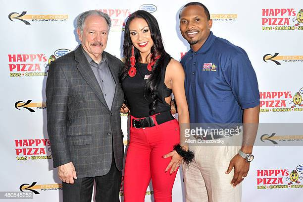 Unified School District board member George McKenna attends the grand opening of Happy's Pizza hosted by Eric King and Soulfia King on July 12 2015...