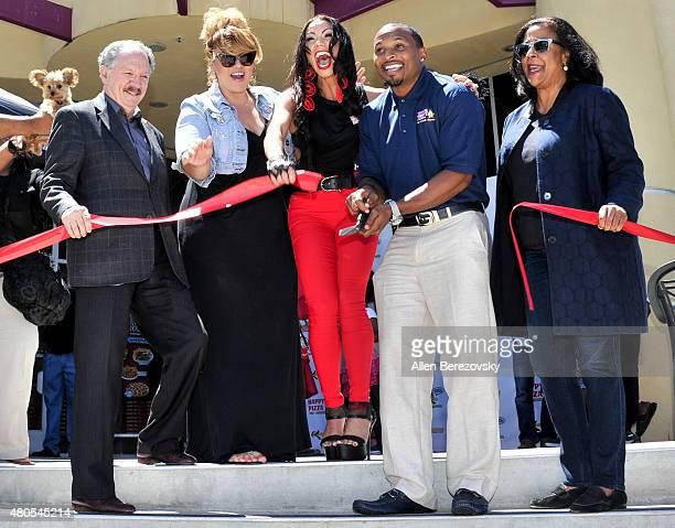 LA Unified School District board member George McKenna TV personality Cecilia Cece The Mamacita Valencia recording artist Soulfia King former NFL...