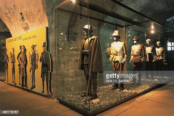 Uniforms from 1910 Exilles fortress 14th19th century Susa Valley Piedmont Italy