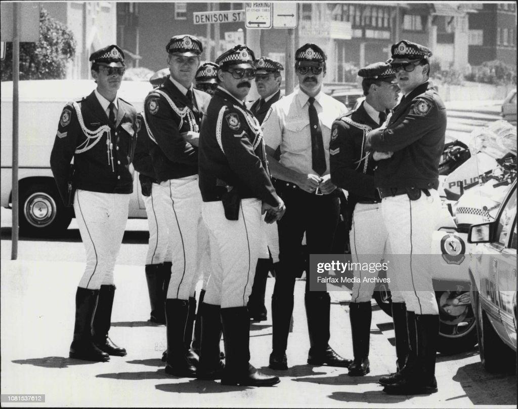 Uniforms N S W  - Police  February 15, 1986    News Photo
