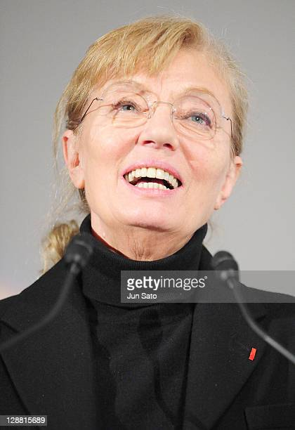 Unifrance President Margaret Menegoz attends the opening ceremony of the France Film Festival 2008 at Roppongi Hills on March 13 2008 in Tokyo Japan