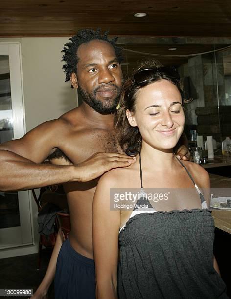 Unik and Alyssa Shelasky during 2005 MTV VMA Pipino Recovery Retreat at Private Mansion in Miami Florida United States
