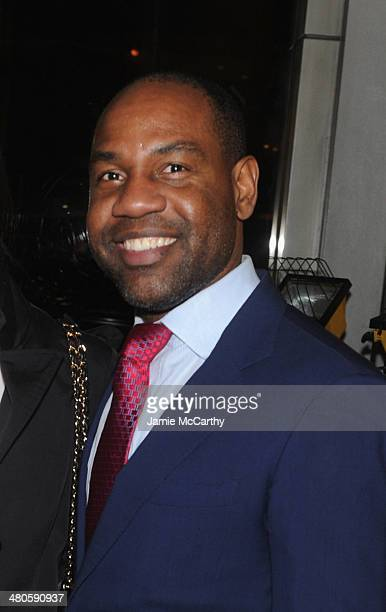 Unik Ernest attends The Cinema Society with Muscle Fitness screening of Open Road Films' Sabotage at AMC Loews Lincoln Square on March 25 2014 in New...
