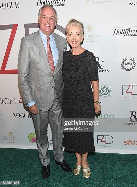Unilever CEO Paul Polman and Dermalogica Foundation founder Jane Wurwand attend the Fashion 4 Development's 6th Annual Official First Ladies Luncheon...