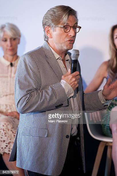 Unilever Chief marketing and communications officer Keith Weed speaks at the Unilever's #unstereotype panel discussion on portrayals of gender in...