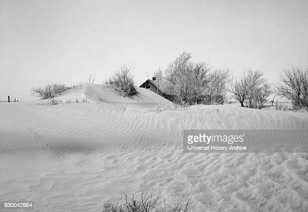 Uninhabitable Farm due to Severe Wind Erosion Cimarron County Oklahoma USA Arthur Rothstein for Farm Security Administration April 1936