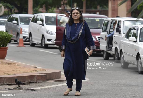 Union Cabinet Minister for Women Child Development Maneka Gandhi before the newly elect President Ram Nath Kovind Oath ceremony at Parliament House...