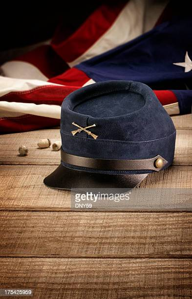 union civil war hat - american civil war stock pictures, royalty-free photos & images
