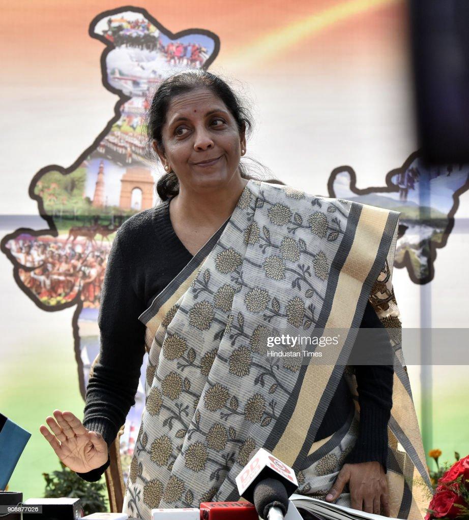 Union Defense Minister Nirmala Sitharaman Visits NCC Republic Day Parade Camp 2018