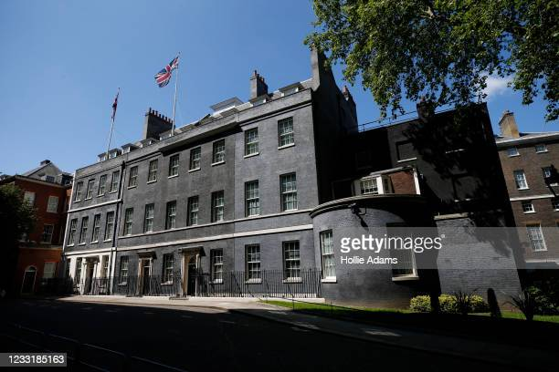 Union Flag flies over 10 Downing Street on May 30, 2021 in London, England. British Prime Minster Boris Johnson married his fiancé Carrie Symonds in...