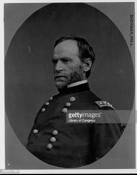 Union General William Tecumseh Sherman in Uniform