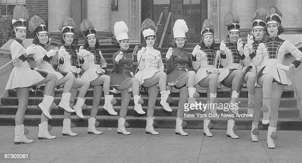 Union Hill High drum majorettes