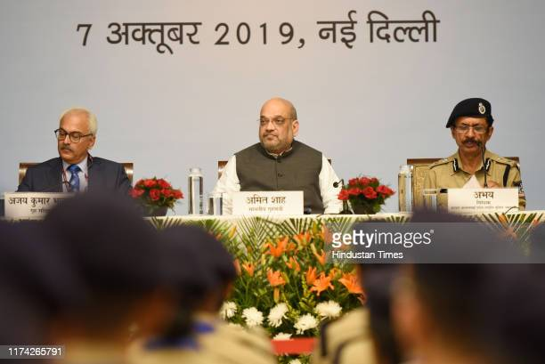 Union Home Minister Amit Shah during a meeting with Probationers of the 2018 Batch of Indian Police Service at Maharashtra Sadan, on October 7, 2019...