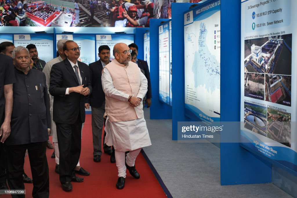 Union Home Minister Amit Shah Attends Flag-In Ceremony Of The Ganga Aamantran Abhiyan In Delhi : News Photo