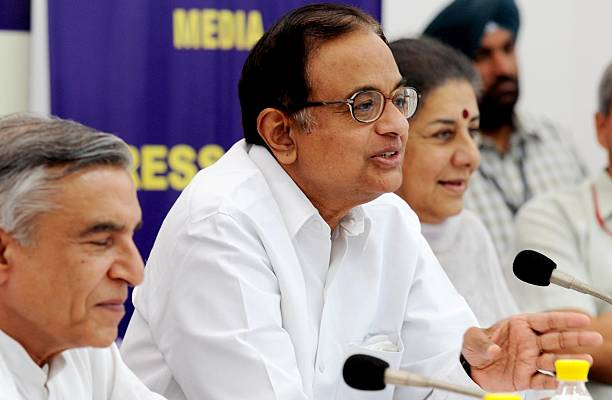 Union Home Minister of India P Chidambaram Minister of Information and Broadcasting Minister Ambika Soni and Minister of Parliamentary Affairs Pawan..