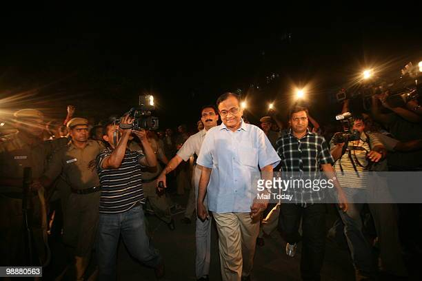Union Home Minister P Chidambaram arrives to attend an antiMaoists programme at the Jawahar Lal Nehru University campus in New Delhi on May 5 2010...