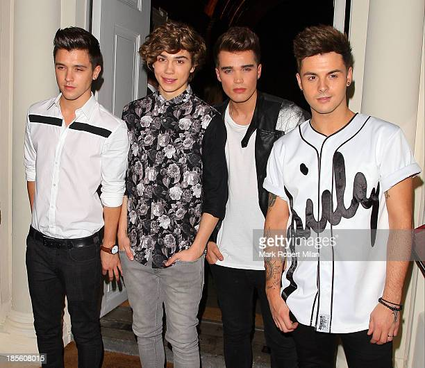 Union J attending the Claire's Accessories party on October 22 2013 in London England