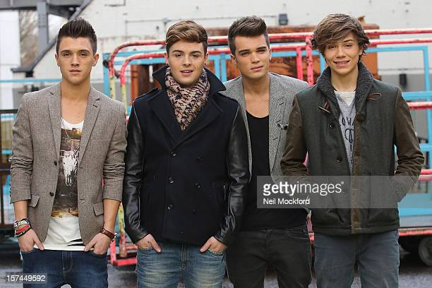 Union J from X Factor 2012 seen at the ITV Studios on December 3 2012 in London England