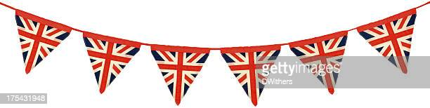 Union Jack Bunting Six Triangular Flags