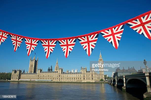 Union Jack Bunting Westminster Palace London