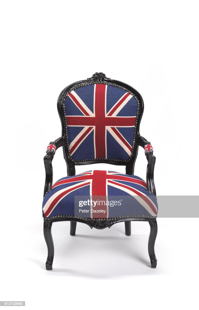 Etonnant Union Jack Chair Front On : Stock Photo