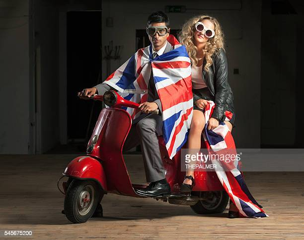 Union jack flag couple
