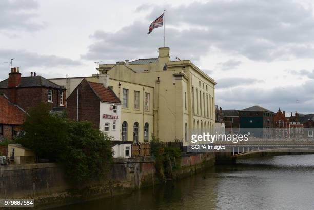 Union Jack flag flies on a building in the center of Boston Lincolnshire The Lincolnshire town recorded the highest leave vote in the 2016 referendum...