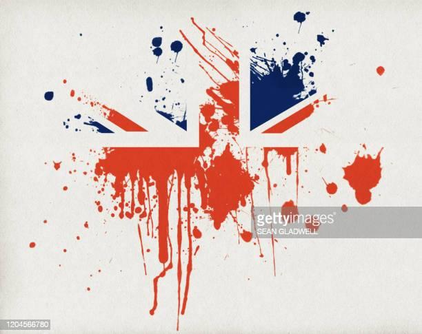 union jack flag splatter - union jack stock pictures, royalty-free photos & images