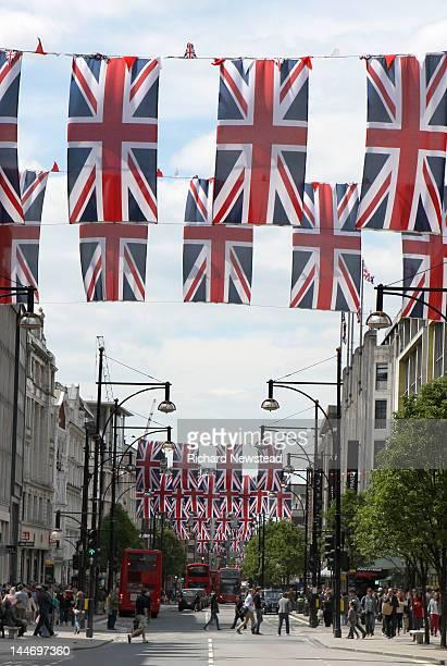 Union Jack Flag's on Oxford Street