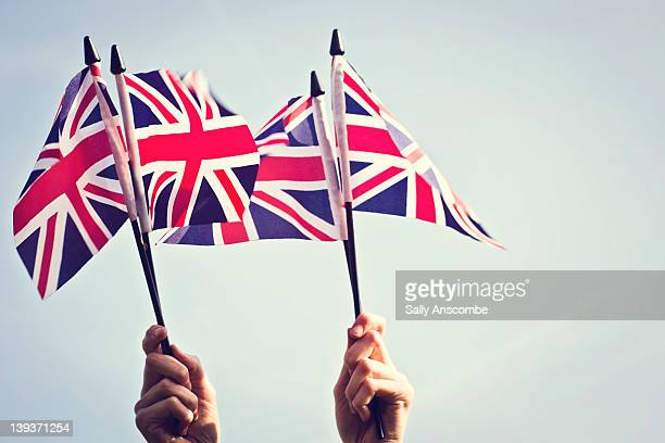 Union Jack flags.