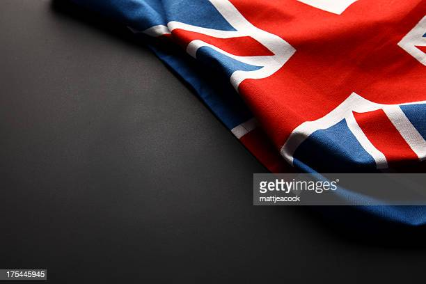 Union Jack auf Tafel
