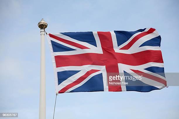 union jack - englische flagge stock-fotos und bilder