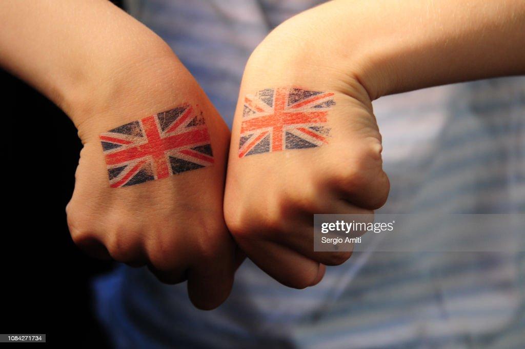 Union Jack tattoos : Stock Photo