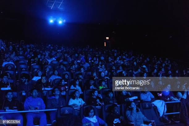 Union League Boys Girls Club members received the celebrity treatment with concessions and more during an advance IMAX screening of Black Panther...