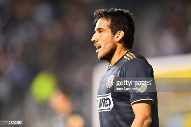 Union Midfielder Ilsinho looks on as he returns up the field in the second half during the game between the Seattle Sounders and Philadelphia Union...